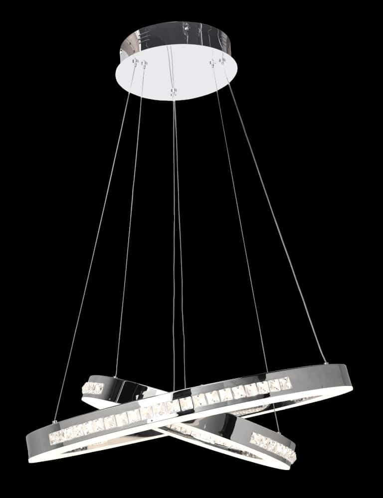 Product Photography of a modern chrome hanging light