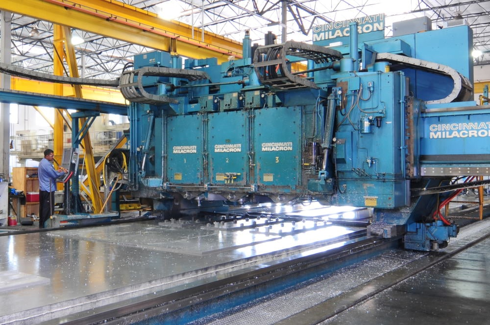 Industrial Photography of large grinding equipment