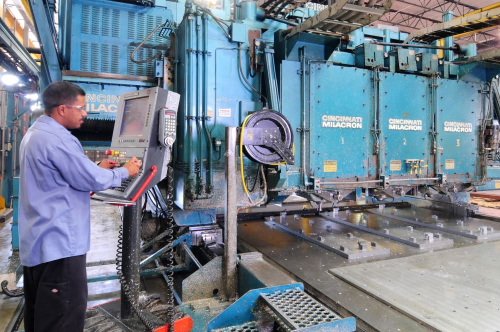Industrial Photography of grinding equipment