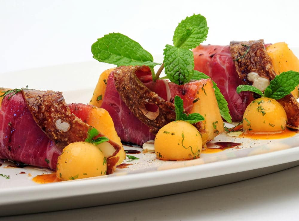 Food Photography of a colorful appetizer plate