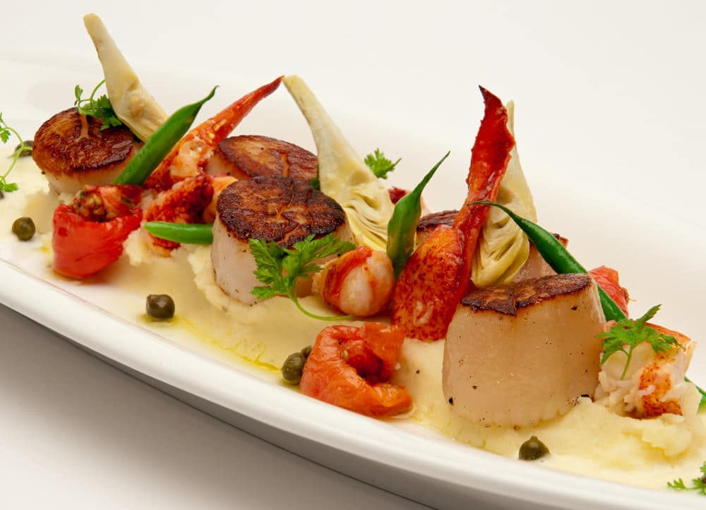Food Photography of a scallop plate