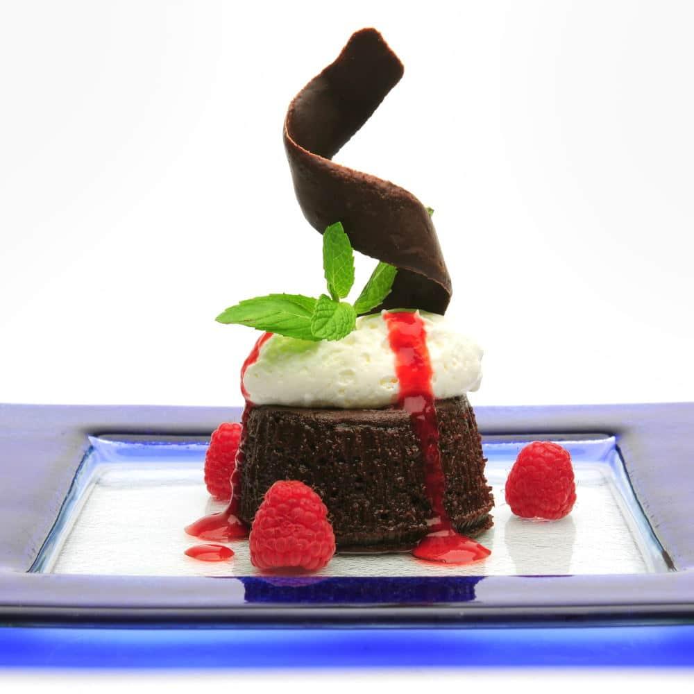 Food Photography of a designer dessert