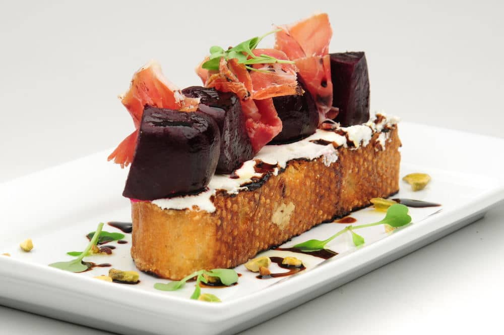 Food Photography of delicious beat presentation plate