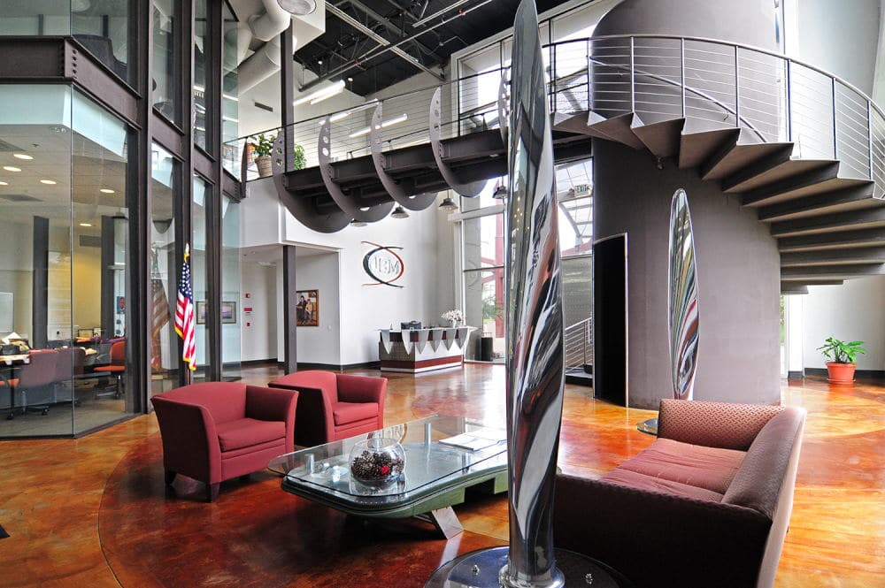 Interior Photography reception of a aerospace company in Ontario