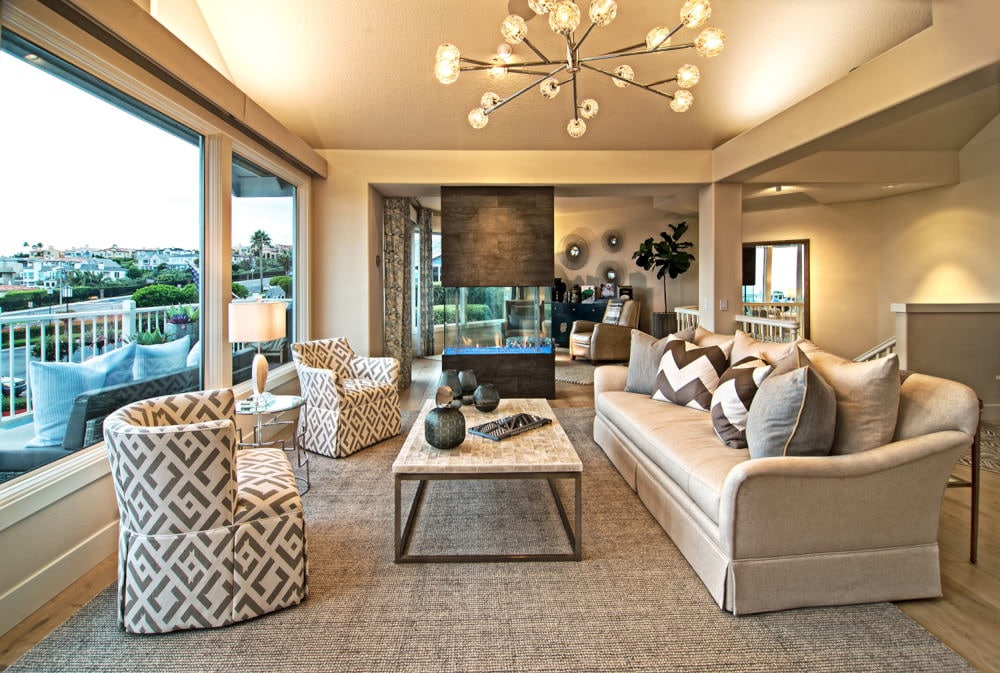 living room with a view Interior Photography in Dana Point