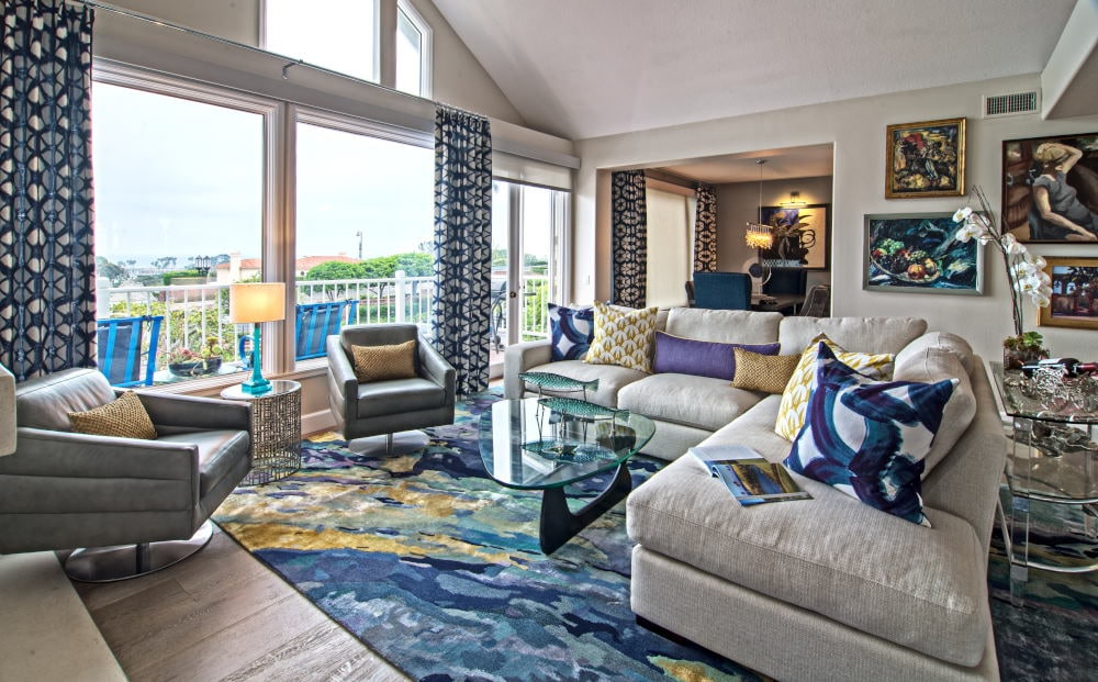 Beach style living room Interior Photography in Dana Point