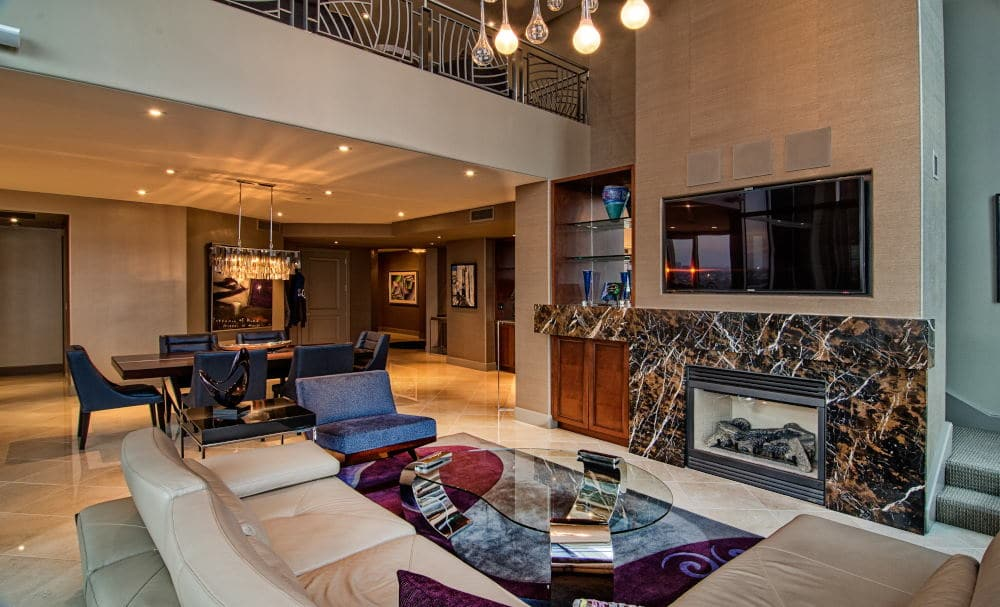 Interior Photography of a Penthouse living room