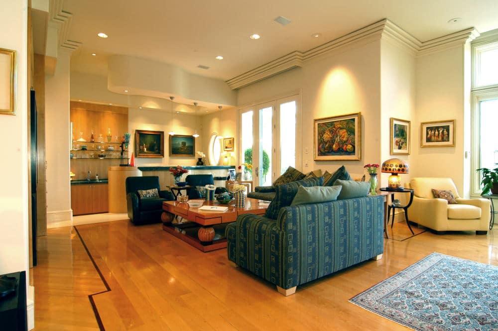 Interior Photography well designed tv room